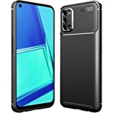 Oppo A52 Case, Carbon Fiber Hybrid Heavy Duty Anti Knock Protective Shockproof Back Case Cover (Black)