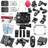 Oittm スポーツカメラ WiFi搭載 30m防水 1080PフルHD動画対応 170度広角レンズ  防水カメラ コンパクト 日本語対応 SJ4000 (ブラック)
