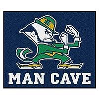 Notre Dame Man Cave Tailgaterラグ5フィートX 6フィート