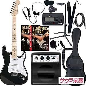 SELDER セルダー エレキギター ストラトキャスタータイプ サクラ楽器オリジナル ST-16M/BK リミテッドセットプラス