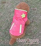 ドッグウェア 犬服 ペット用服 スターアップリケのふわふわフリースジャケット(ディープピンク) Mサイズ