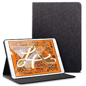 ESR iPad Mini 5 2019 ケース オックスフォード生地 スリムフィット シンプル 軽量 スエード 柔らかな内側 キズ防止 二つ折り オートスリープ ウェイクアップ 機能 iPad Mini5(第五世代) 専用(ブラック)