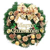 クリスマスリース ゴールド リボン (60cm)