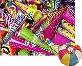 【クラッカー】徳用MIX 散らからない100個入クラッカー(1袋)  / お楽しみグッズ(紙風船)付きセット