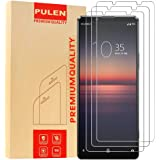 (3-Pack) PULEN for Sony Xperia 10 II Screen Protector,HD Clear Bubble Free Anti-Scratch 9H Hardness Tempered Glass