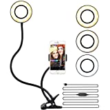 """6"""" Led Selfie Ring Light with Stand and Phone Holder for Live Stream/Makeup, Beauty Ringlight for YouTube TikTok/Photography"""