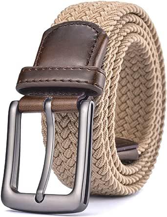 [FREESE] ベルト メンズ 編み込み メッシュベルト ビジネス カジュアル 紳士 伸縮 サイズ調整フリー [改良型]
