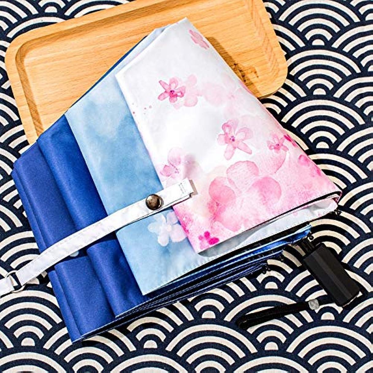 りドアパンサーHAPPY HOME 傘の女性の韓国の小さな新鮮な雨と雨の兼用折りたたみ日焼け止め日焼け止めレトロ日傘