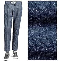 ベルウィッチ BERWICH / 【国内正規品】 18SS!製品洗いコットンリネンシャンブレー1プリーツドローコードパンツ『SAKE GYM』 (ライトインディゴブルー) メンズ