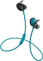 BOSE SoundSport, Wireless Earbuds,Sweatproof Bluetooth Headphones for Running and Sports, Aqua,761529-0020