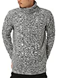 JIGGYS SHOP (ジギーズショップ) ニット セーター メンズ タートルネック ケーブル編み 厚手 長袖 防寒 ボーダー アメカジ S C ミックスグレー