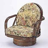 籐家具(ラタン) 籐回転座椅子 SH25 ミドルタイプ S776B