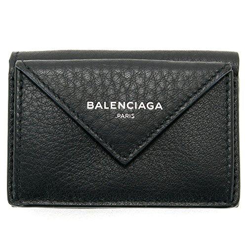 バレンシアガ BALENCIAGA 財布 三つ折り財布 ミニ財布 レディース ペーパー ミニウォレット ブラック 391446 DLQON 1000 スマートウォレット 薄型 薄い [並行輸入品]