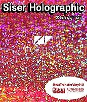 """Siser ホログラフィック熱転写ビニール 20インチ x 1ヤード 20"""" x 1 Yard HG20P1SH"""