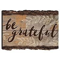 Be Gratefulスクリプト素朴なBark Look Wood Signマグネット