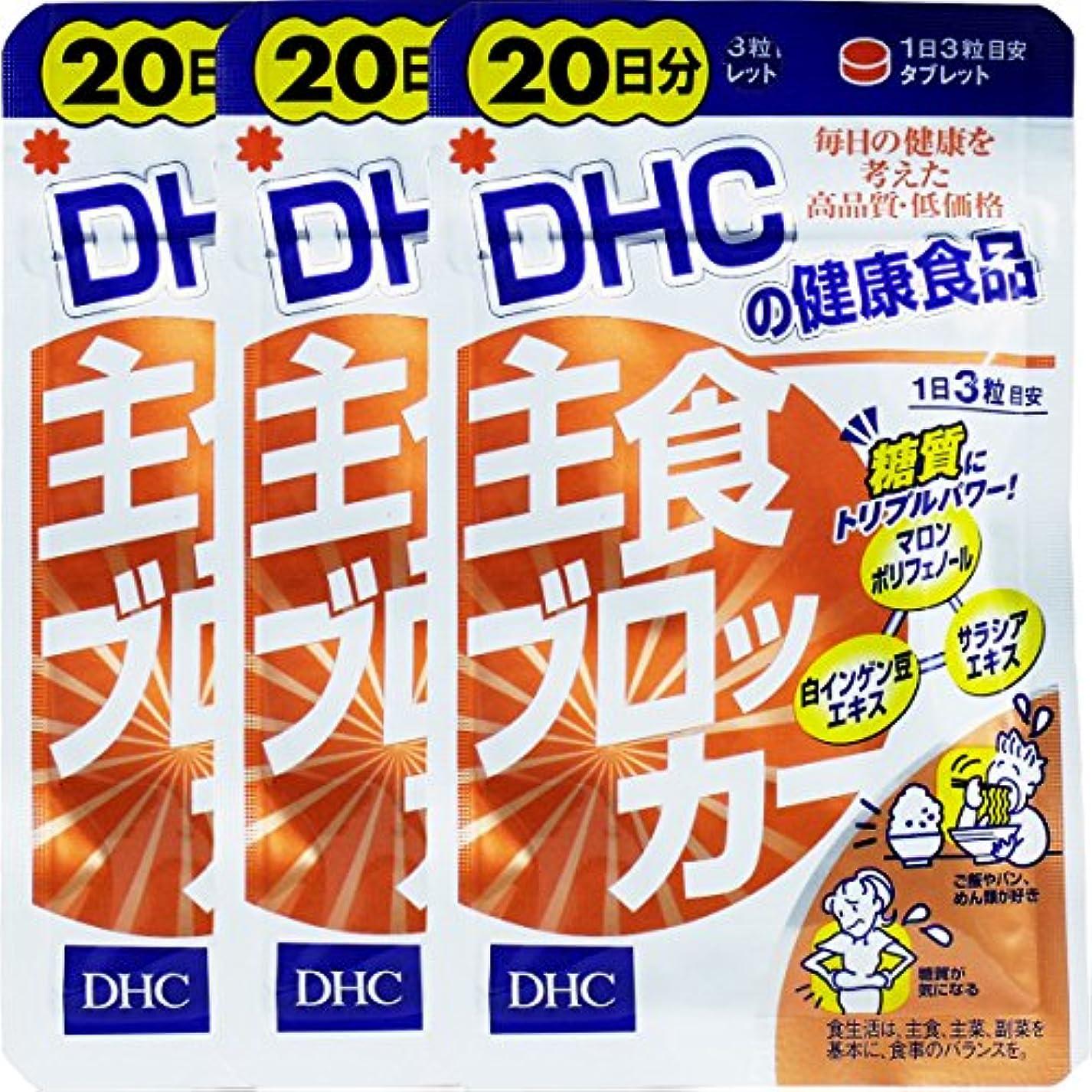 原理調停する外観DHC 主食ブロッカー 20日分 60粒入×3個