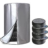 【Amazon限定ブランド】 ZATOOTO タイヤカバー 屋外 フェルトパッド4枚付き タイヤ 4本 収納 保管カバー…