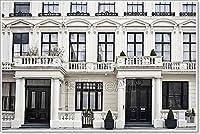 Barewallsビクトリア朝スタイル建物ロンドンの用紙印刷壁アート 36in. x 54in.