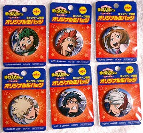 ファミリーマート 僕のヒーローアカデミア THE MOVIE 2人の英雄 キャンペーン オリジナル缶バッジ 全種6点 フルコンプセット