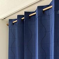 アコーディオンカーテン パタパタカーテン 間仕切りカーテン 100cm幅 200cm丈 カーブライン ネイビー 1165…
