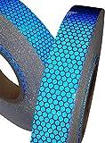 反射安全警告テープ 高輝度 反射テープ ステッカー 自己 接着ビニール 1cm* 5m 青