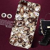 新発売 iPhone6S / 6S Plus ケース SPRING COME® 3D オシャレ ゴジャース 大人 デコ電 ダイヤー クリスタル ケース Apple アイフォン キラキラ 輝く 6s iPhone6 /Phone6S / 6 /  対応 2015 (アイホン6S, クリスタル 黒) [並行輸入品]