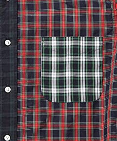 Crazy Tartan Buttondown Shirt 11-11-0915-139: Multi