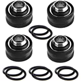 IronBuddy Rigid Tubing Fittings G1/4 to 10mm ID, 14mm OD Metal and PETG Tube Fitting Connector for PC Water Cooling System, P