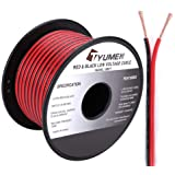 TYUMEN 100FT 18 Gauge 2pin 2 Color Red Black Cable Hookup Electrical Wire LED Strips Extension Wire 12V/24V DC Cable, 18AWG F