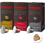 ネスプレッソ カプセル 互換 キンボ コーヒー カプセル 3種 各1箱 3箱セット エスプレッソの本場、イタリアのナポリから登場。洗浄剤(カフェニュ)1コ付き