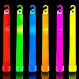 32 Ultra Bright 6 Inch Large Glow Sticks - Chem Light Sticks with 12 Hour Duration - Camping Glow Sticks - Glowsticks for Par