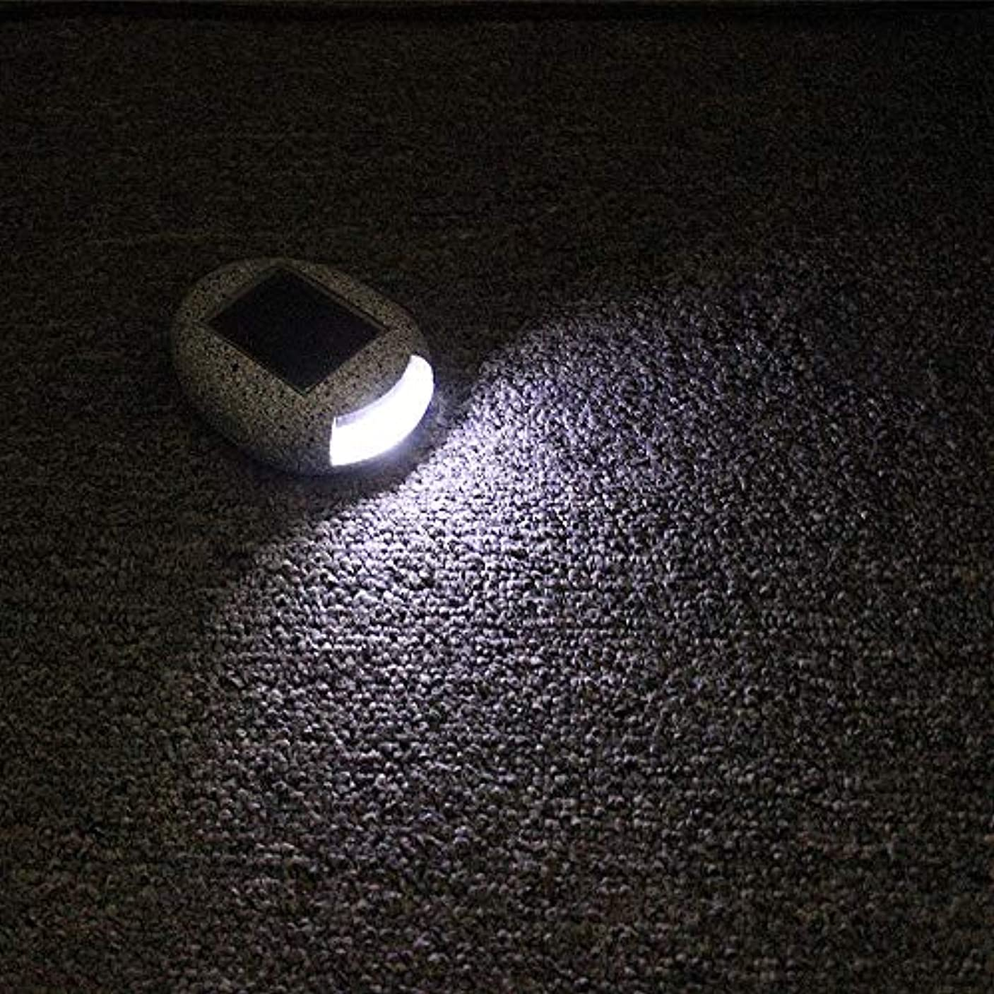 ピストルシャッフルすり減るPinjeer Ledソーラークリエイティブpvc石ポストライト現代のシンプルな屋外防水コラムランプガーデンバルコニーストリート芝生風景ホームヴィラ照明柱ライト