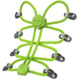 Laces with Locks No Tie Shoelace for Kids and Adults - Round Reflective Athletic Shoestrings Replacement
