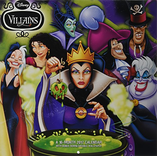 Disney Villains 2017 Calendar: Includes Downloadable Wallpaper