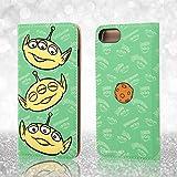 レイ・アウト iPhone7 ケース ディズニー 手帳型 レザーケース(ICカード /スタンド機能) ポップアップ フェイス/エイリアン RT-DP12J/AL