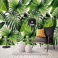 カスタム3D壁画壁紙東南アジア熱帯雨林バナナの葉写真の背景壁の壁画壁紙モダン