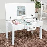 ドレッサー テーブル 化粧台 白 かわいい 収納 木製 ホワイト
