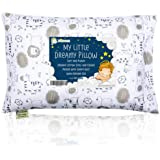 Toddler Pillow with Pillowcase - 13X18 Soft Organic Cotton Toddler Pillows for Sleeping - Machine Washable - Toddlers, Kids,