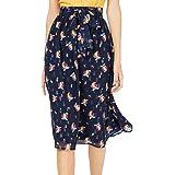 Maison Jules Womens Metallic Floral A-Line Skirt