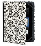 Verso 【Kindle Fire HD(2012年モデル)専用ケースカバー】 Trends Versailles Damask トレンズ ヴェルサイユ ダマスク ブラック/ホワイト VR104-001-23
