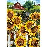 5D Diamond Painting Kit Full Drill, DIY Cross Stitch Mosaic Picture Artwork Home Decor Sunflower 30X40cm