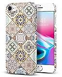 【Spigen】 iPhone8 ケース, [ Qi 充電 対応 ] [ 超スリム 軽量 ] [ レンズ保護 ] [ ハードケース ] シン・フィット アラベスク アイフォン8 用 カバー (iPhone 8, アラベスク)