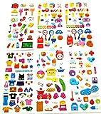 (ココ)COCO 文具 【 5枚 】ポップ デコレーション シール 文具 交通 生活 雑貨 デコレーション ライフ シール お楽しみカラー 柄