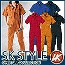半袖ツナギ カラー:6_オレンジ サイズ:S