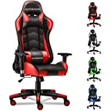 ALFORDSON Gaming Chair Racing Chair Executive Sport Regan Office Chair with PU Leather Armrest Headrest Home Chair in Red Col