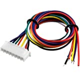 uxcell 7S 8Pin Female -XH Lipo Balance Wire Extension Lead Charger Plug Terminal Cable 26AWG 30cm 5Pcs