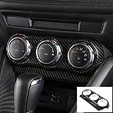 smartauto CX-3 CX3 DK系 デミオ DEMIO DJ系 パーツ カスタム アクセサリー マツダ インテリアパネル エアコンパネル (カーボン調)AMD117-1