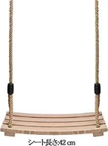 Pellor ブランコ 木製 子供 大人用 木製ブランコ 屋外 屋内 最大耐荷重約100kg 調整可能なロープ長さ 子供プレゼント