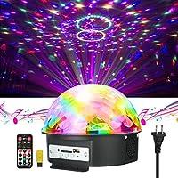 Disco Lights JELEGANT Dj Light LED Stage Light Party Lights Disco Ball Strobe Light Crystal Magic Ball Lights Sound Activated Strobe Light for Wedding Party KTV Club Pub Show Nightclub Karaoke [並行輸入品]