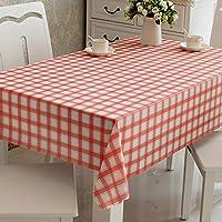 防水油のないコーヒーテーブルのテーブルクロス ( 色 : 赤 , サイズ さいず : 180*180cm )